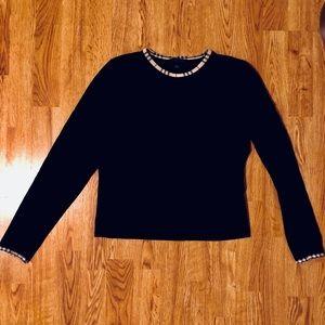 Burberry Long Sleeve Black Shirt